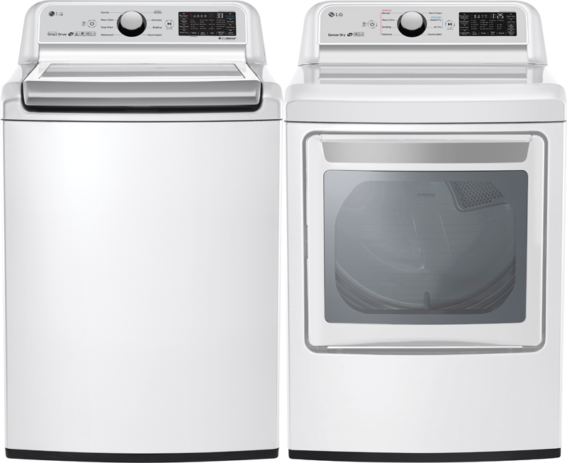 5.0 cu. ft. capacity Washer and 7.3 cu. ft. Dryer