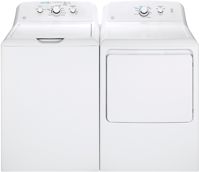 4.2 cu. ft.capacity with stainless steel basket and six water temperatures and 7.2 cu. ft.electric with 3 heat selections