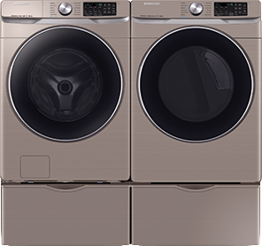 4.5 cu. ft. capacity Washer and 7.5 cu. ft. Dryer
