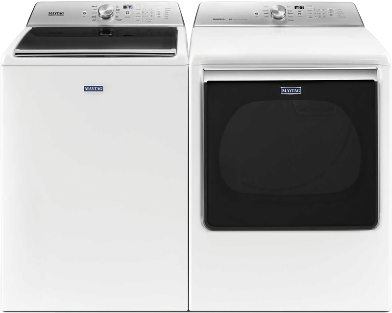Maytag 8.8 cu. ft. capacity electric with PowerDry and Advance Moisture Sensing and 5.2 cu. ft. with PowerWash agitator and auto sensing option
