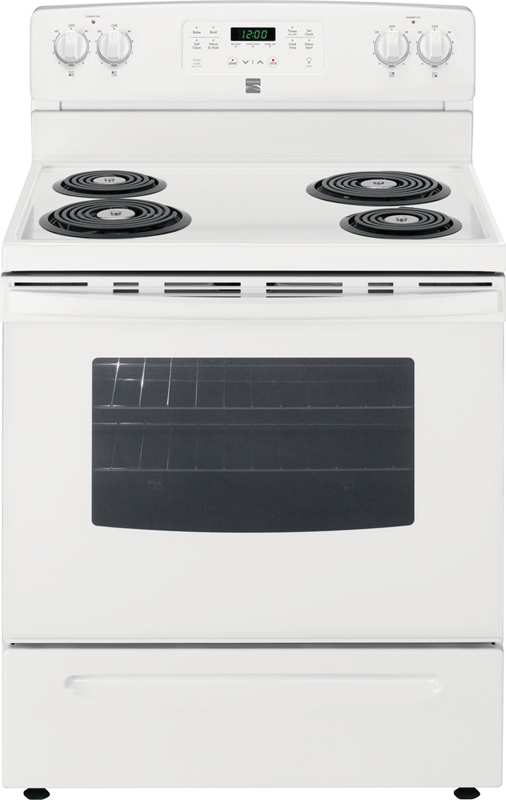Kenmore 5.3 cu. ft. capacity self-clean electric with easy set control