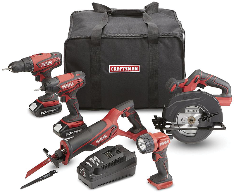 Craftsman 20-volt Max 5-pc. power tool combo kit