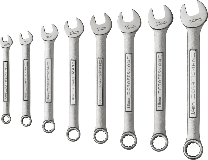 Craftsman 8-pc. 12-point combination wrench set, metric