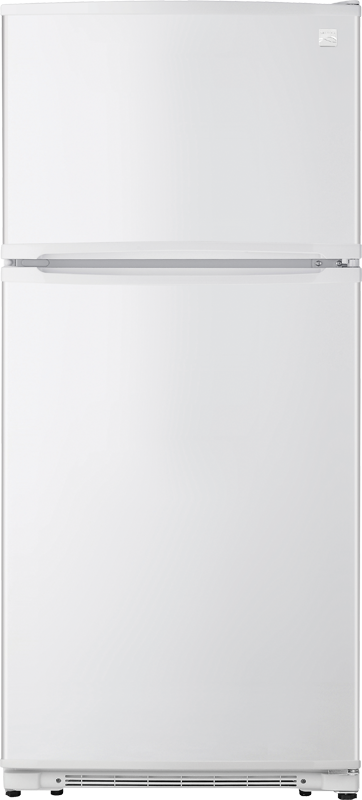 Kenmore 18-cu. ft. capacity refrigerator with adjustable shelves, gallon-sized door bins and clear crisper drawers