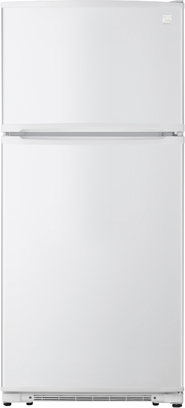 Kenmore 18-cu. ft.† capacity refrigerator with gallon-sized door bins and clear crisper drawers