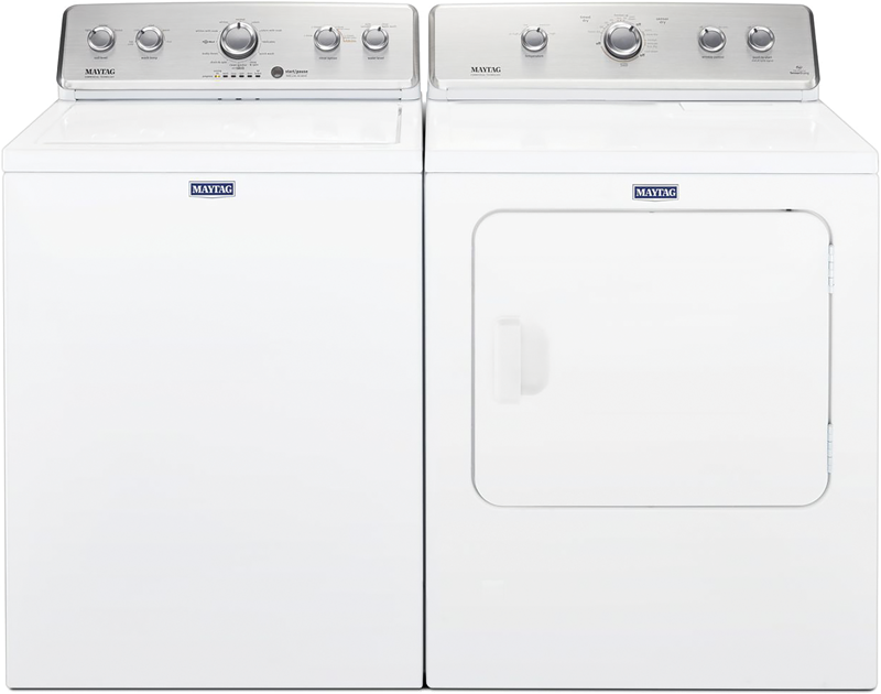 Maytag 3.8 cu. ft. capacity with Powerwash and Deep water wash option and 7.0 cu. ft. capacity with Wrinkle Control