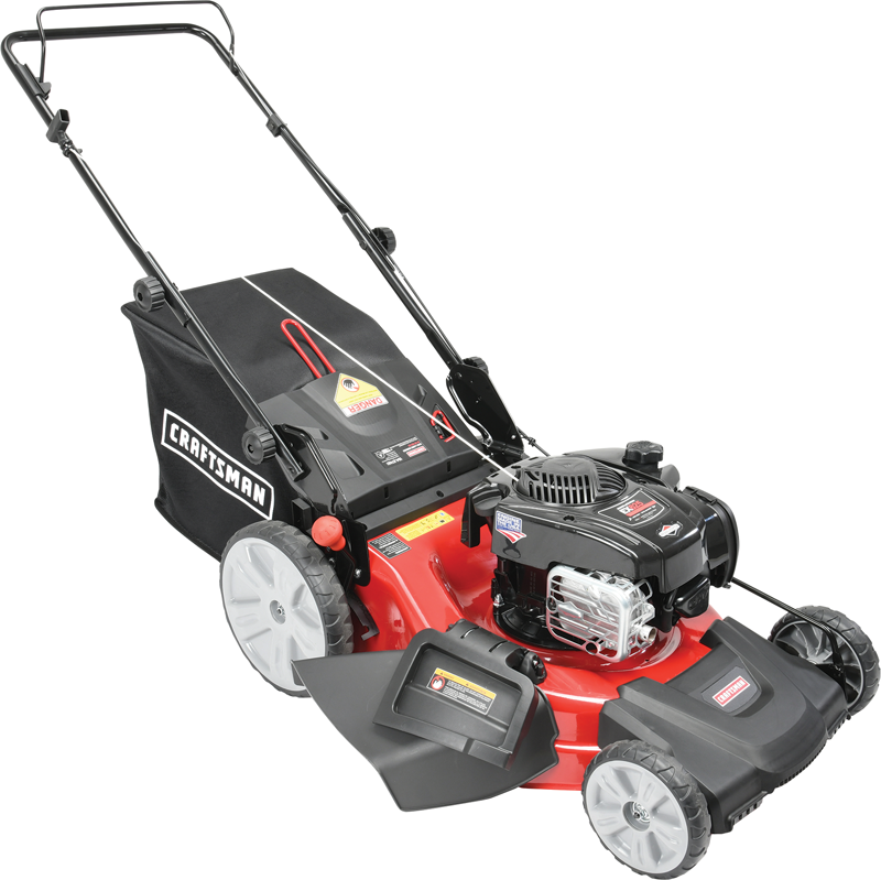 Craftsman 150 Cc Briggs & Stratton 625 EXi engine Ready Start Side discharge, mulch and bag High Rear Wheels