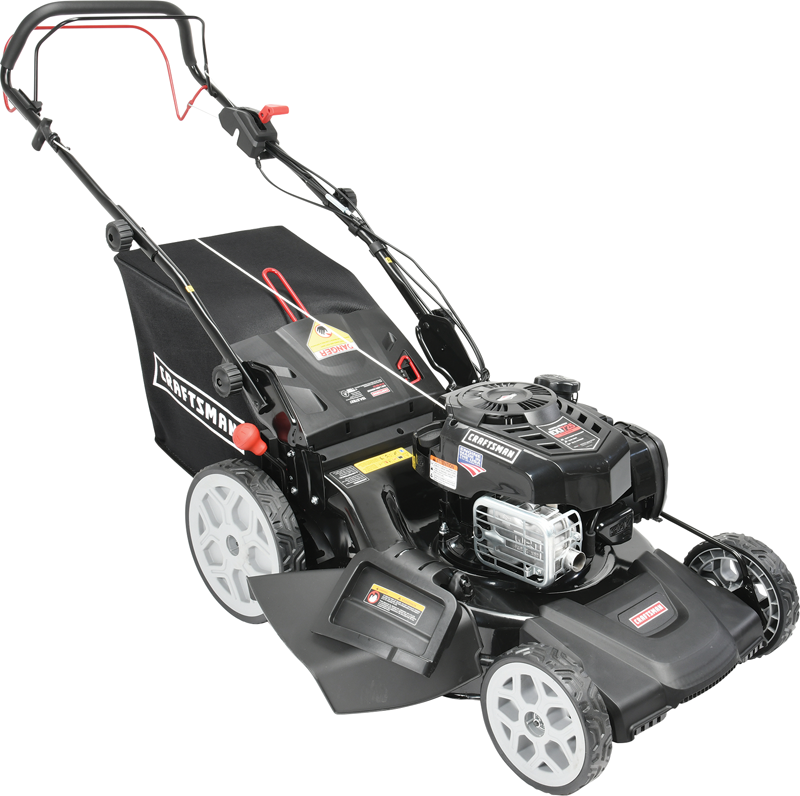 Craftsman 163 Cc Briggs & Stratton 725 EXi Quiet engine Ready Start Side discharge, mulch and bag Rear Wheel Drive Just Check & Add High Rear Wheels