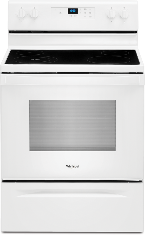 Whirlpool 5.3 cu. ft. capacity electric range with FlexHeat™ Dual Radiant Element and keep warm setting