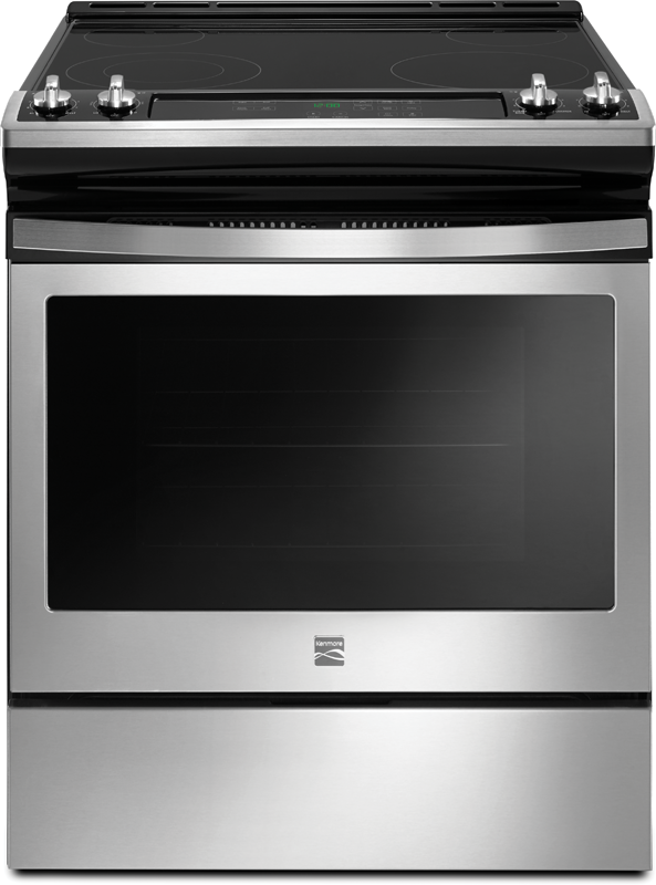 Kenmore 4.8 cu. ft. electric range with Turbo Boil, Dual Element and self clean option