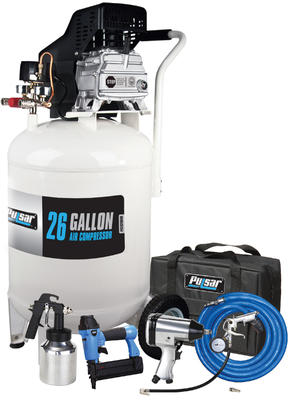 Pulsar 26 Gallon compressor with tool kit