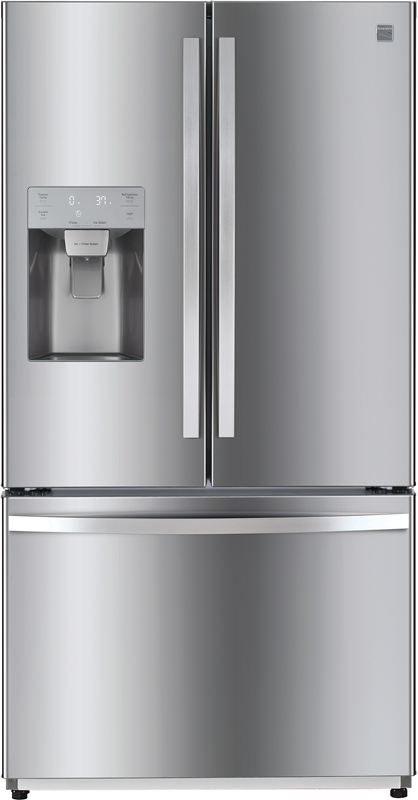 Kenmore 25.5-cu. ft. capacity refrigerator with adjustable shelves, full width pantry drawer and gallon sized door bins