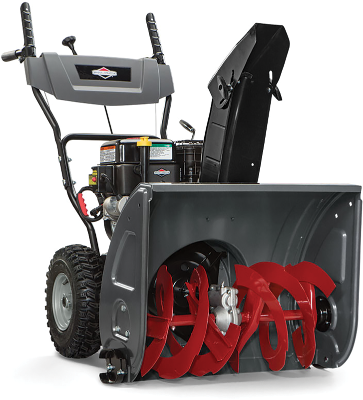 Briggs & Stratton dual stage 24-in snowthrower  208 Cc engine 24-in clearing width Electric start
