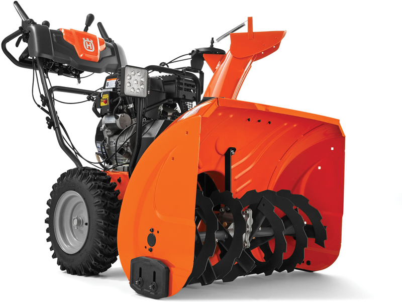 Husqvarna dual stage 291 Cc 30-in snowthrower with power steering  291 cc quiet engine Power steering 30-in clearing width Electric start LED headlight Variable FWD & reverse