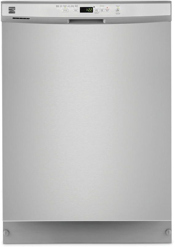 Kenmore 24-in. built-in dishwasher with 1 hour wash cycle and sanitize option