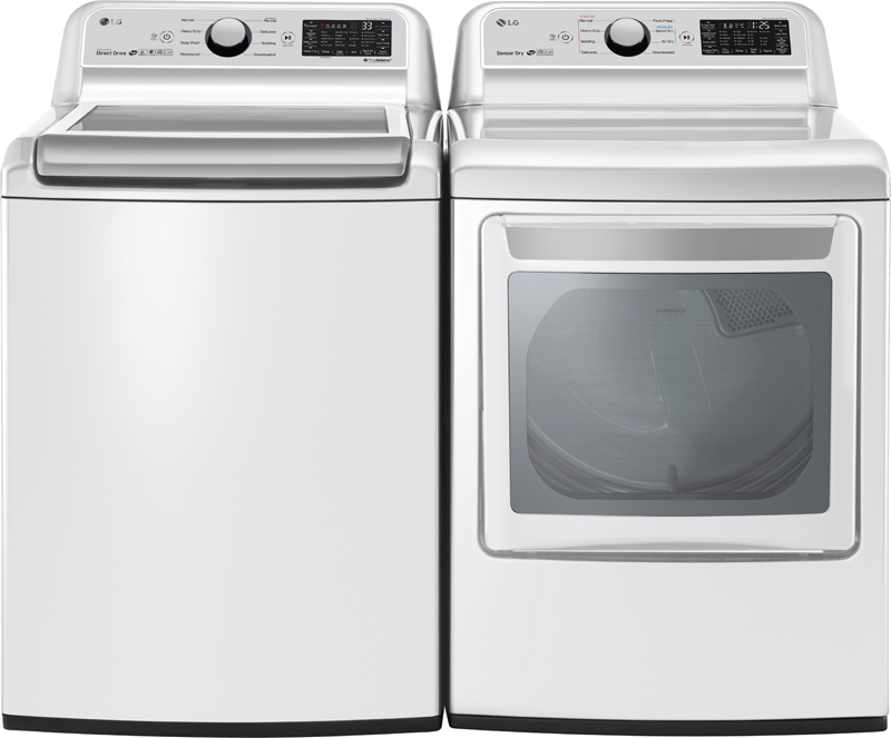 LG 7.3 cu. ft. capacity electric dryer with dual door opening and Sensor Dry technology