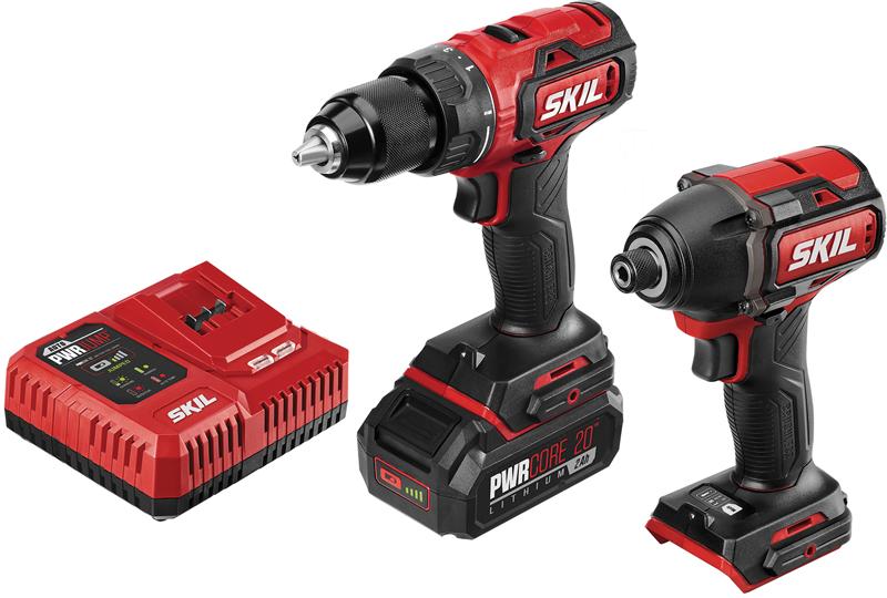 Skil 20-volt brushless drill/driver & impact driver kit