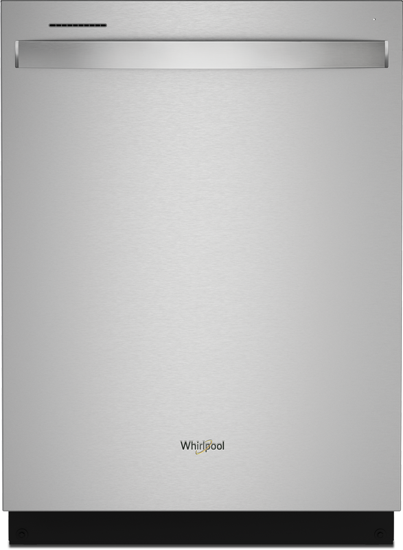 Whirlpool 24-in. built in dishwasher with third rack, adjustable 2 Nd rack and Sani Rinse option