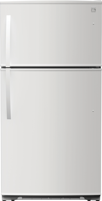 Kenmore 21-cu. ft. capacity refrigerator with adjustable shelves, crisper drawers and LED lighting