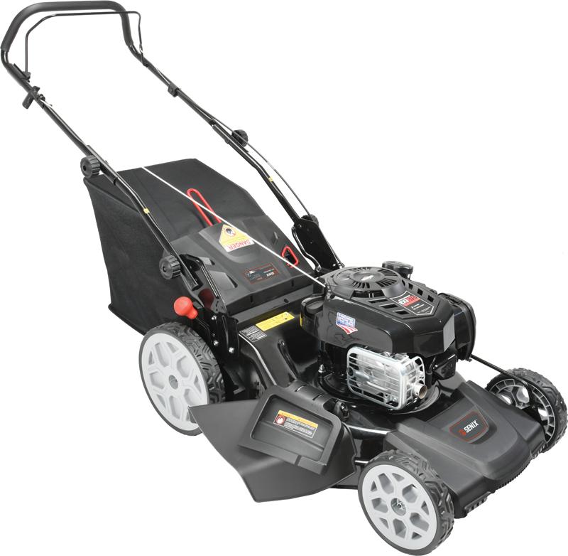 Senix 163 Cc Briggs & Stratton 625 EXi engine Ready Start Side discharge, mulch & bag Just Check & Add High Rear Wheels