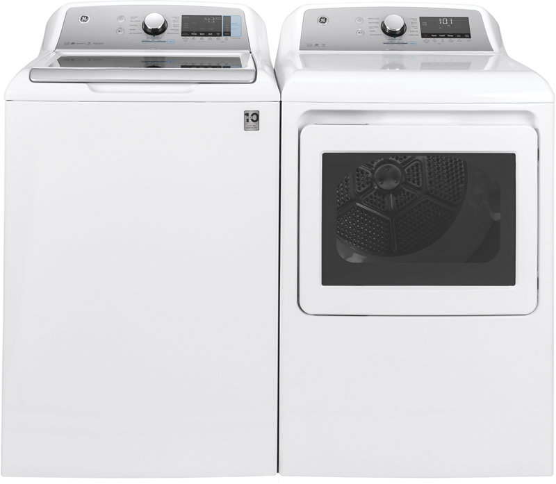 GE Appliances 7.4 cu. ft. capacity electric dryer with aluminized alloy drum, sensor dry, steam option and sanitize cycle