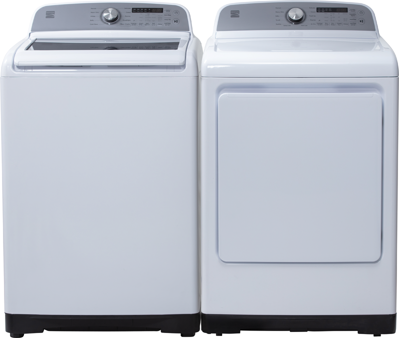 Kenmore 7.4 cu.ft. capacity electric dryer with aluminized steel drum, sanitize cycle and Wrinkle Guard option