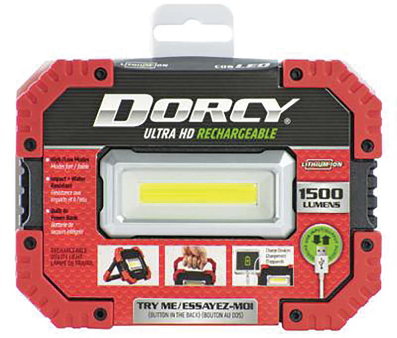 Dorcy 1500 Lumens ultra HD rechargeable worklight