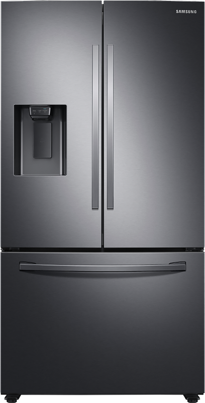 Samsung 27-cu. ft.capacity refrigerator with full width drawer, large capacity ice maker, and gallon sized bins